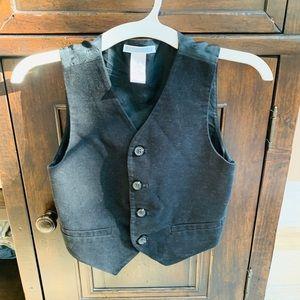 Janie and Jack Boys Velvet Vest: Size 5